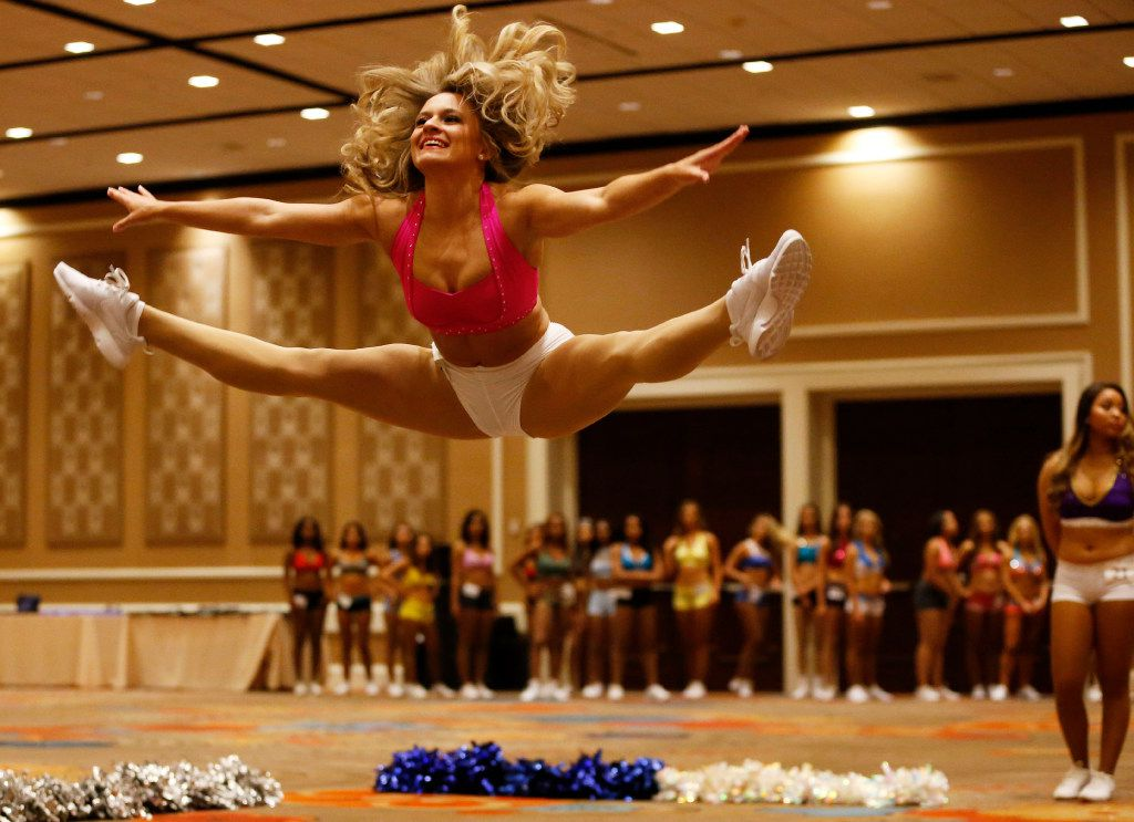 Marianne Corredor of Fort Worth dances during the first day of the Dallas Mavericks Dancers auditions at the Hilton Anatole in Dallas on Saturday, July 15, 2017.