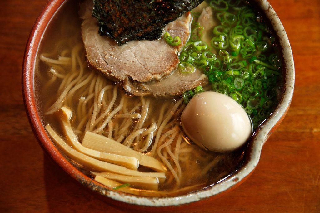 Chintan Shoyu with yecora rojo noodles, roasted pork collar chashu, marinated egg, scallions and nori