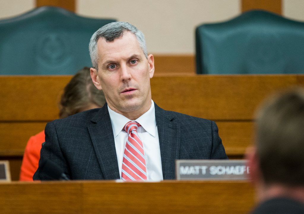 Rep. Matt Schaefer, R-Tyler, pictured in the Texas Capitol on Monday, February 25, 2019. In the aftermath of the El Paso and Midland-Odessa mass shootings, Schaefer has opposed any new gun laws, while also saying Texas should not require background checks for private gun sales, even for unauthorized immigrants.