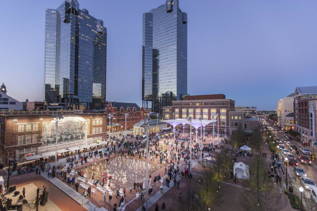 Arlington could create a development that compares with Sundance Square in Fort Worth, city and team officials said. That's part of the latest pitch to persuade voters to approve $500 million in public money for a new Rangers ballpark.