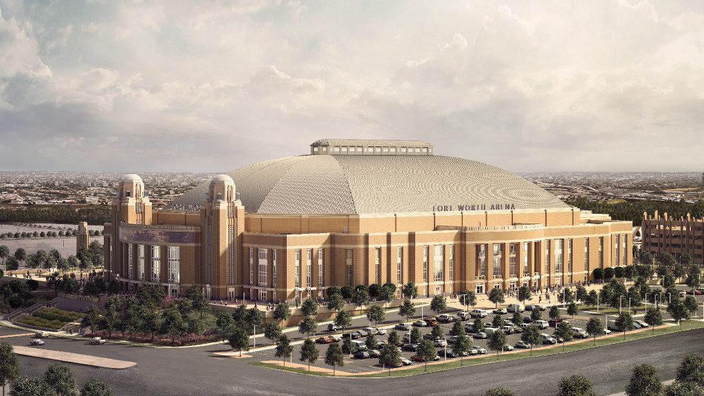 Rendering of the new Multipurpose Arena Fort Worth scheduled to open in 2019. This is how it will look from the west.