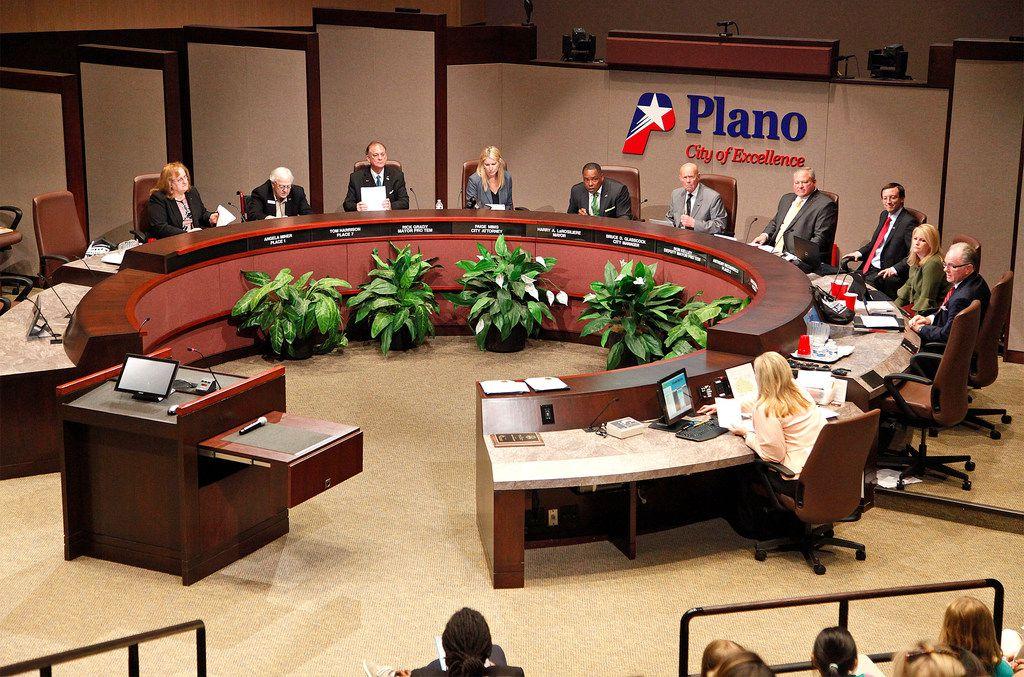 The Plano City Council on Monday, April 9, 2018.