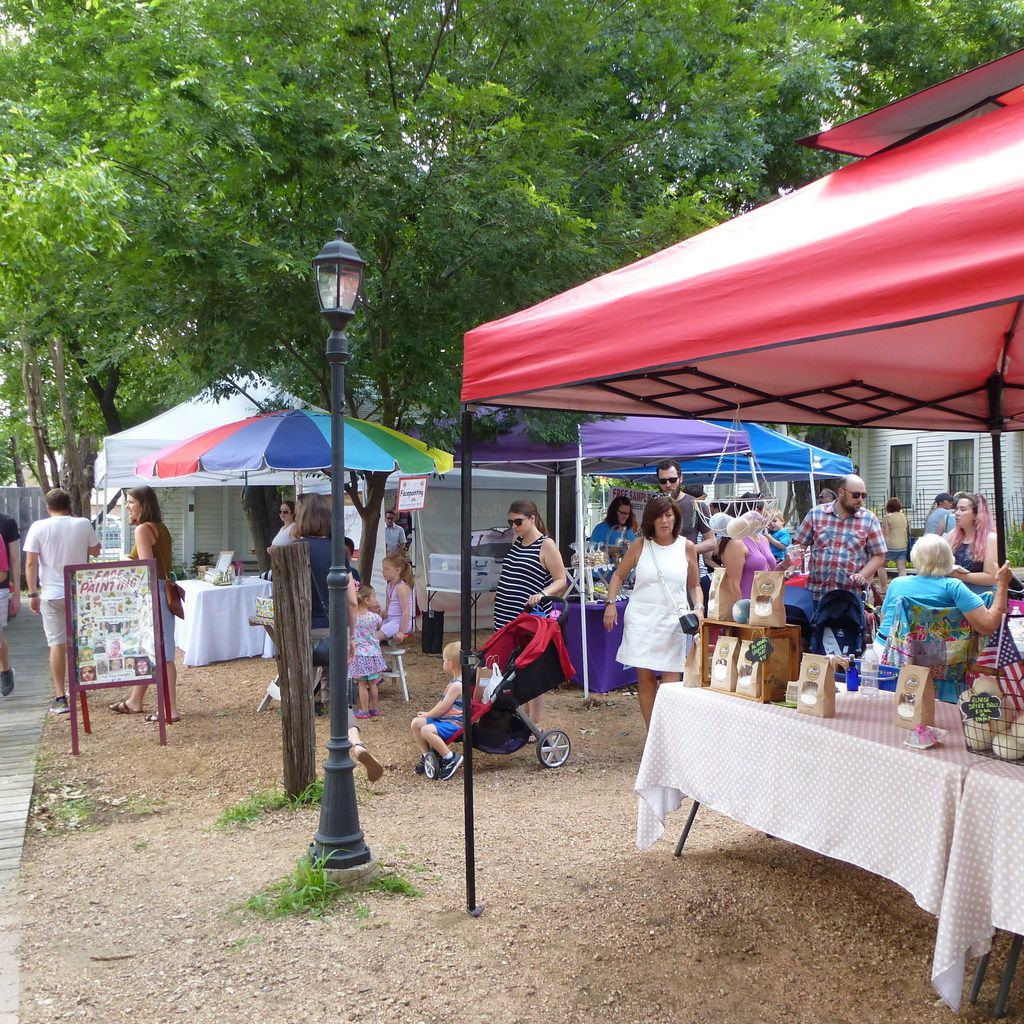 The McKinney Farmers Market starts inside the Heritage Village at Chestnut Square.