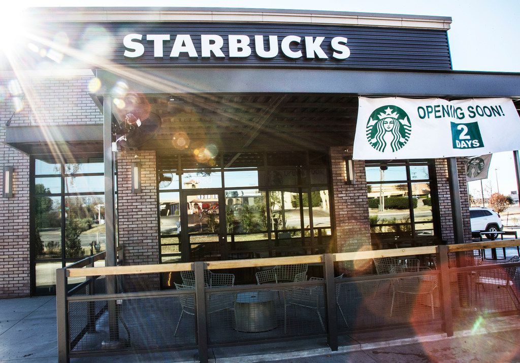 A new Starbucks opened in Dallas in November in the parking area of Southwest Center Mall.
