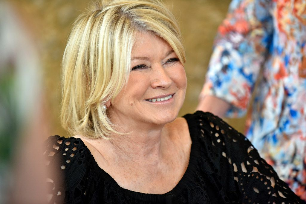 Writer and television personality Martha Stewart reacts with a smile as she meets her fans during a book signing event for her new book Martha's Flowers: A Practical Guide to Growing, Gathering and Enjoying, at the Dallas Arboretum, Friday morning, May 11, 2018. Martha Stewart was announced Friday as the Dallas Arboretum's Great Contributor to Art Award honoree. Ben Torres/Special Contributor