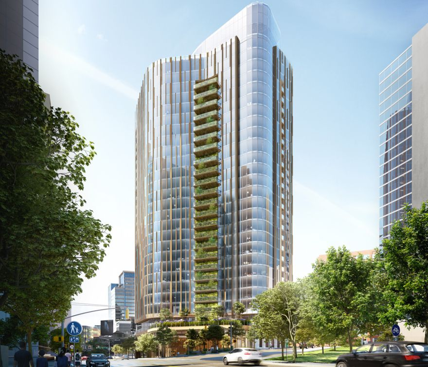 The proposed high-rise would have 26 floors of residential space