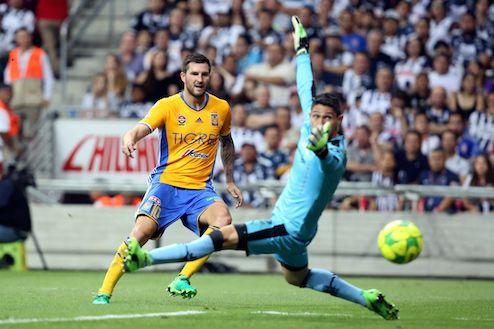 André-Pierre Gignac, el goleador francés de Tigres, ha anotado 14 goles en liguillas del Futbol Mexicano. AGENCIA REFORMA