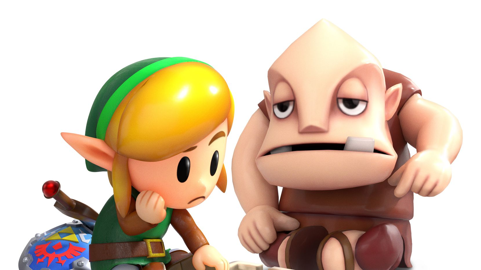 Artwork from The Legend of Zelda: Link's Awakening on the Nintendo Switch.