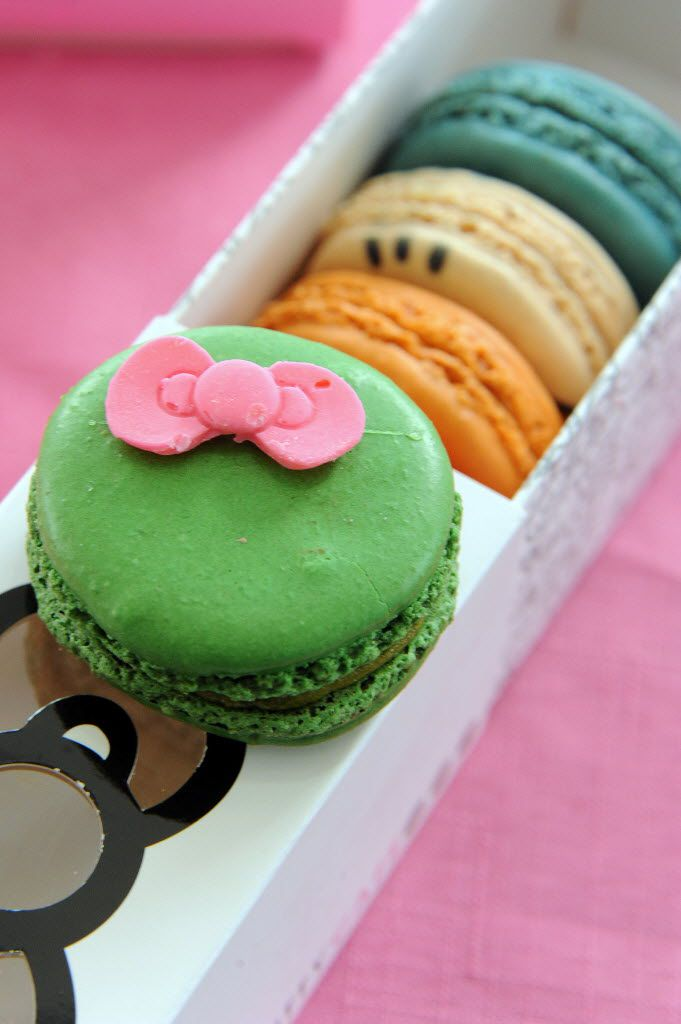 Fans can purchase a box of five macaroons for $15 at the Hello Kitty Cafe Truck in Southlake on Sept. 15, 2018.