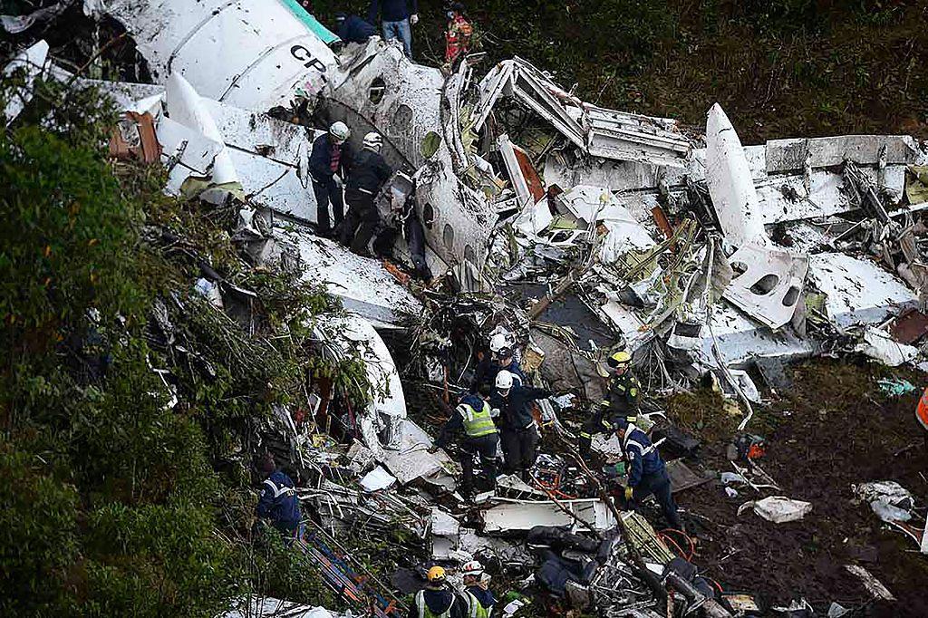 Avión en el que viajaba el Chapecoense rumbo a Medellín. Foto GETTY IMAGES