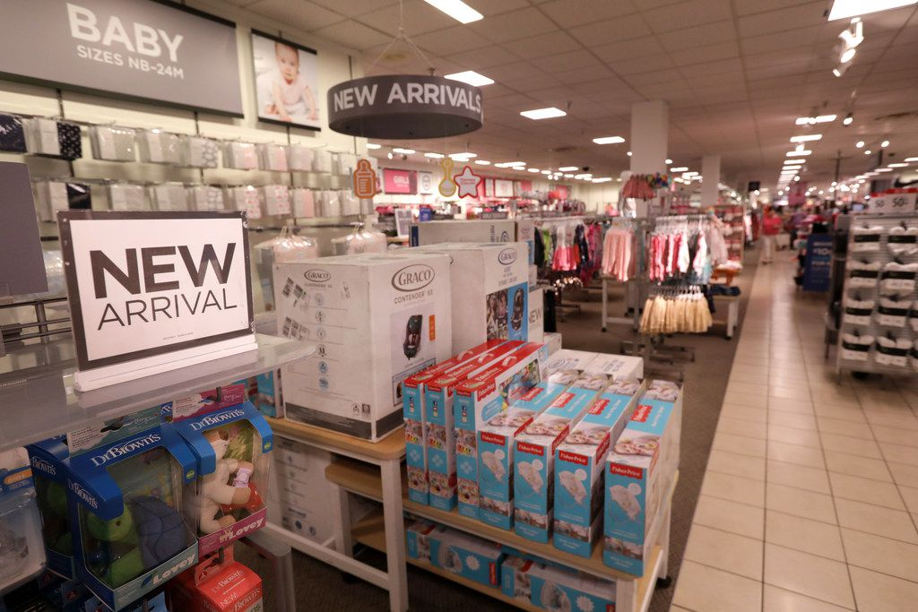 The new baby section at the Collin Creek Mall J.C, Penney in Plano