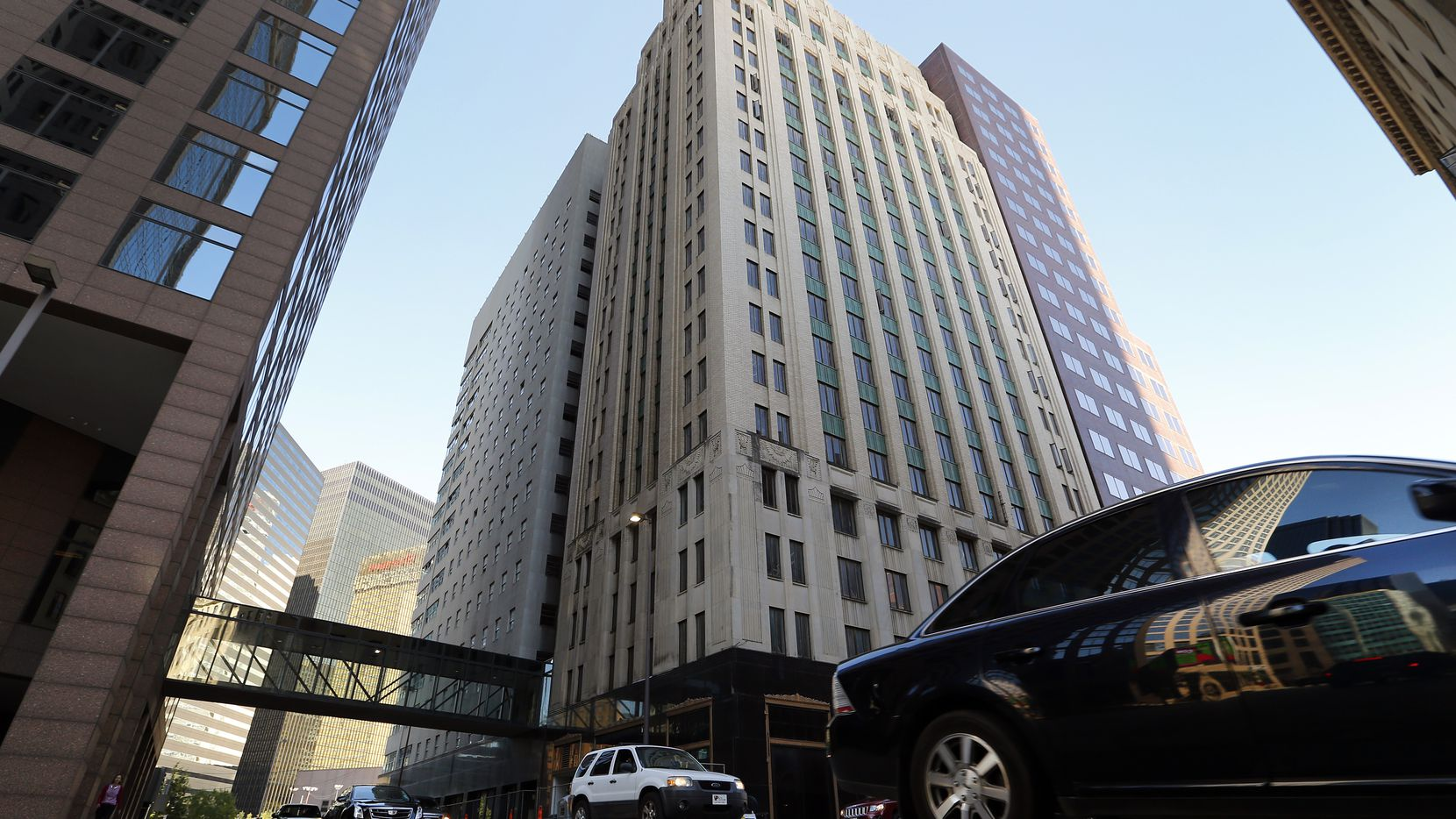 The landmark Tower Petroleum Building at 1907 Elm St. in downtown Dallas reopens March 1 as a Cambria Hotel.