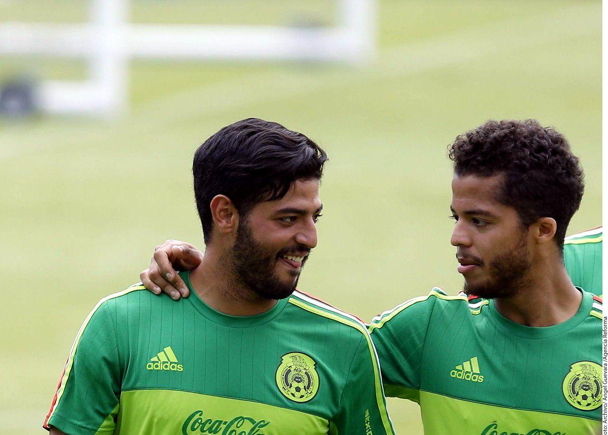 Carlos Vela y Gio Dos Santos fuera de convocatoria del DT Osorio. Foto GETTY IMAGES