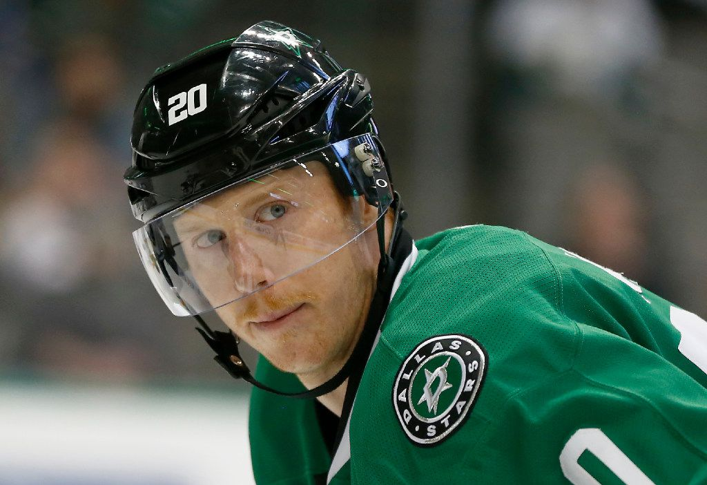 Dallas Stars center Cody Eakin (20) looks at his teammate during the first period against Buffalo Sabres at American Airlines Center in Dallas, Thursday, Jan. 26, 2017. (Jae S. Lee/The Dallas Morning News)