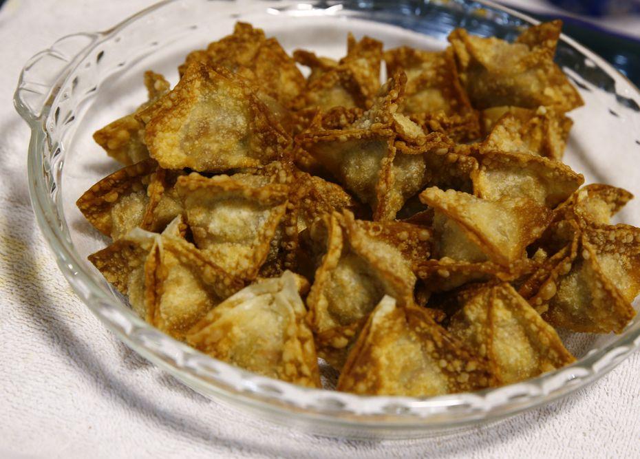 Spam Teriyaki Rangoons, made by Allyson Garmon, 11, won the Spam Kid Chef contest at the State Fair of Texas.
