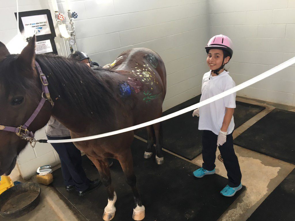 Equest client Stephanie Almonte joined in a Paint-a-Pony Party.