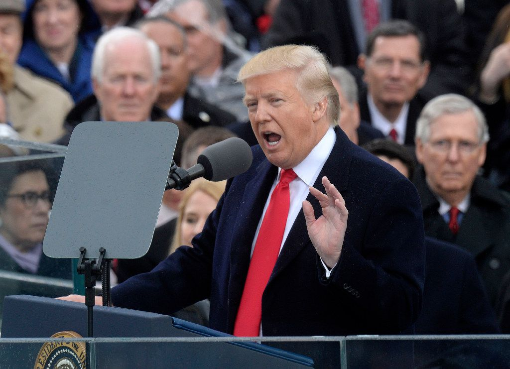 President Donald Trump at his inauguration on Jan. 20. (Olivier Douliery/Abaca Press/TNS)