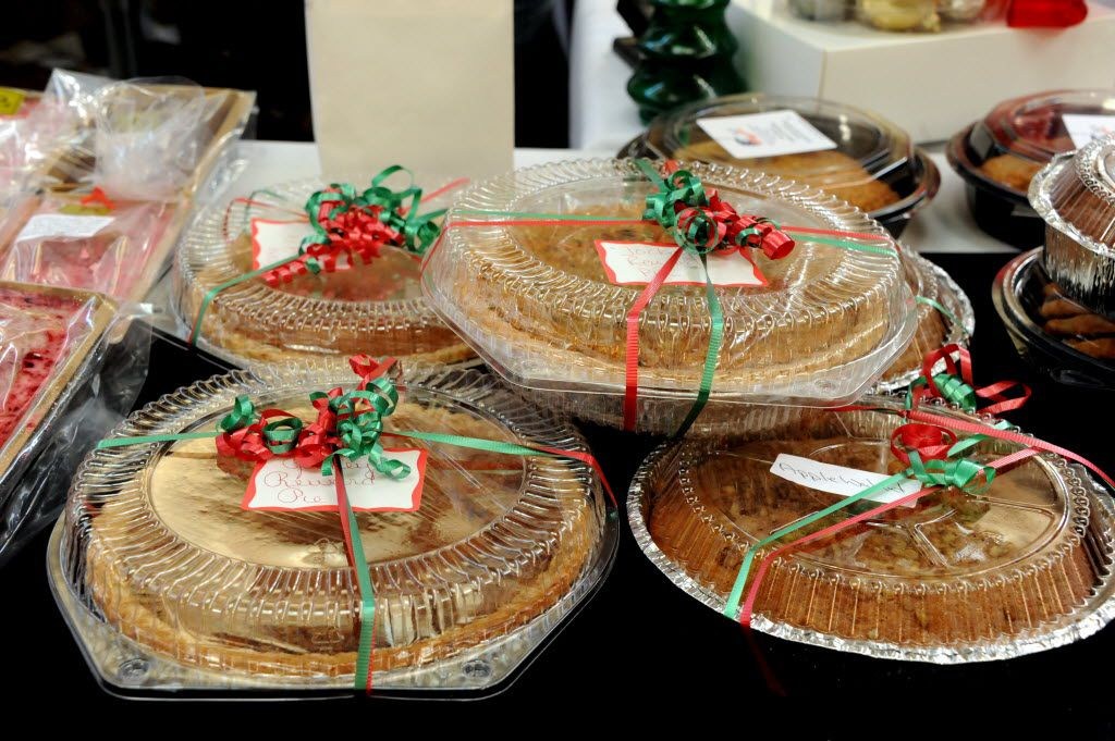 Apple walnut pies are sold at the NorthPark Center bake sale befitting the North Texas Food Bank in Dallas, TX on December 19, 2015. (Alexandra Olivia/ Special Contributor)