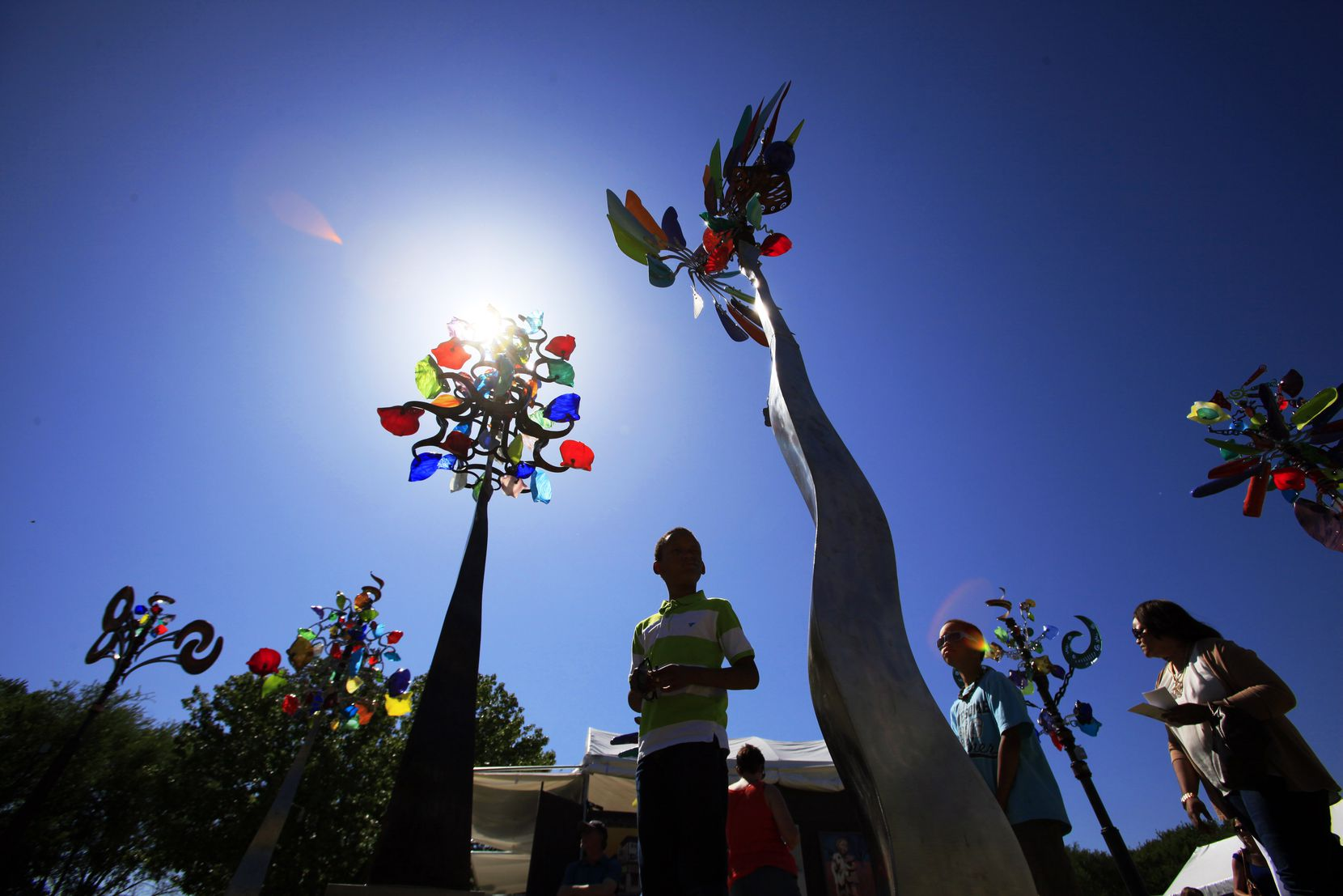 Kinetic wind sculptures were one of the cool attractions at last year's spring Cottonwood Art Festival.