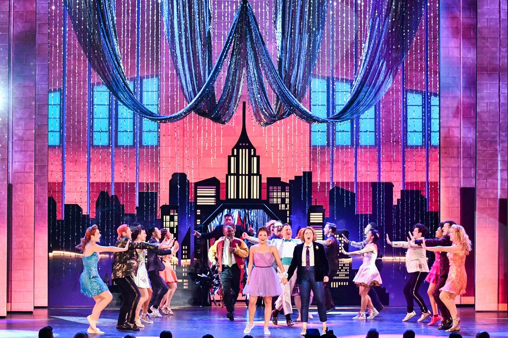 "The cast of ""The Prom"" perform at the 73rd annual Tony Awards at Radio City Music Hall on Sunday, June 9, 2019, in New York."