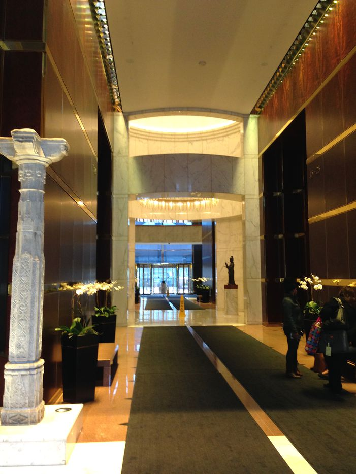 """The current lobby in the Trammell Crow Center will be replaced with a """"grand hall."""""""