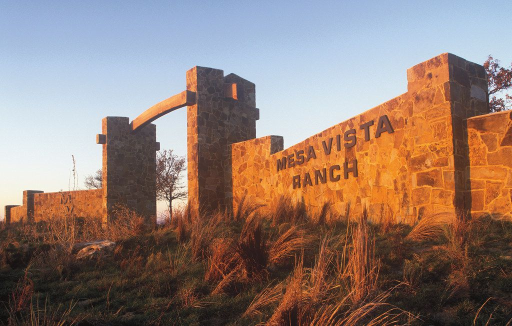 The gateway to the Mesa Vista Ranch, along the Canadian River corridor in Roberts County.