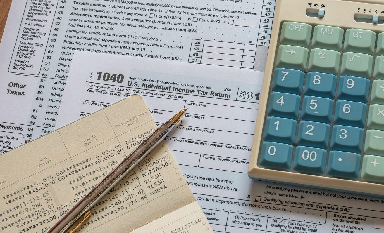 Formulario para la declaración de impuestos.