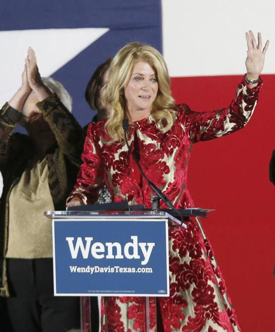 """In her concession speech Tuesday night in Fort Worth, Wendy Davis told supporters: """"Your work is not in vain. The only way we will have lost tonight is if we stop fighting."""""""
