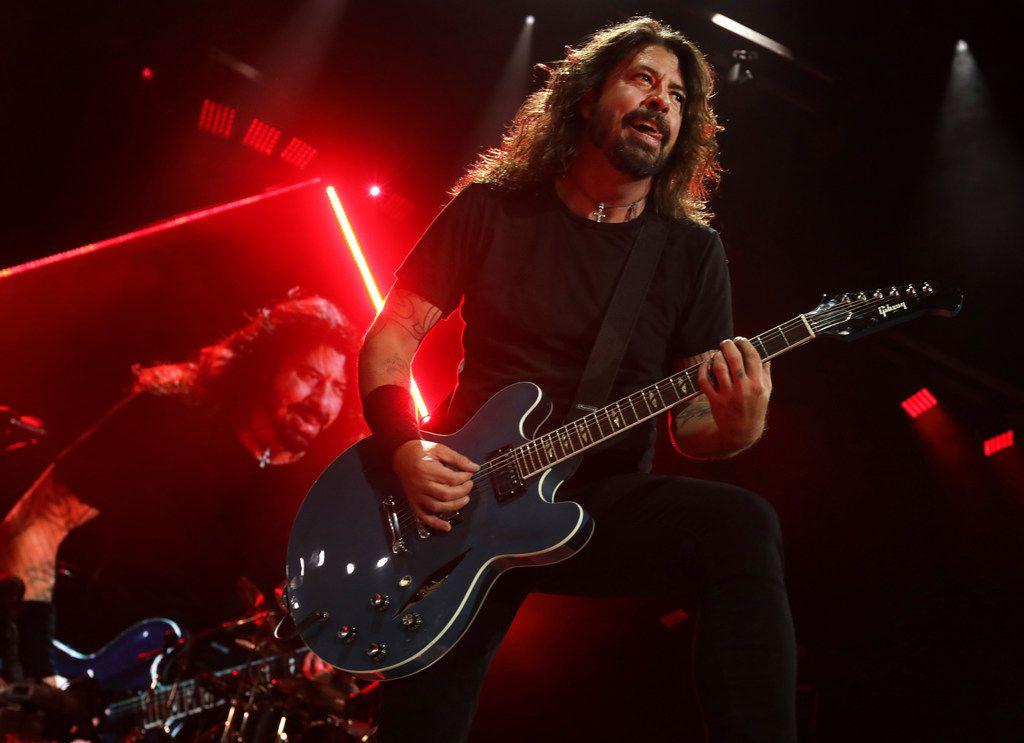 Foo Fighters perform at Starplex in Dallas, TX, on Apr. 21, 2018. (Jason Janik/Special Contributor)