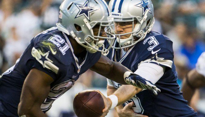 Brandon Weeden (3) será el mariscal titular de los Cowboys contra los Falcons, ante la lesión de Tony Romo. (Staff Photographer/ASHLEY LANDIS)