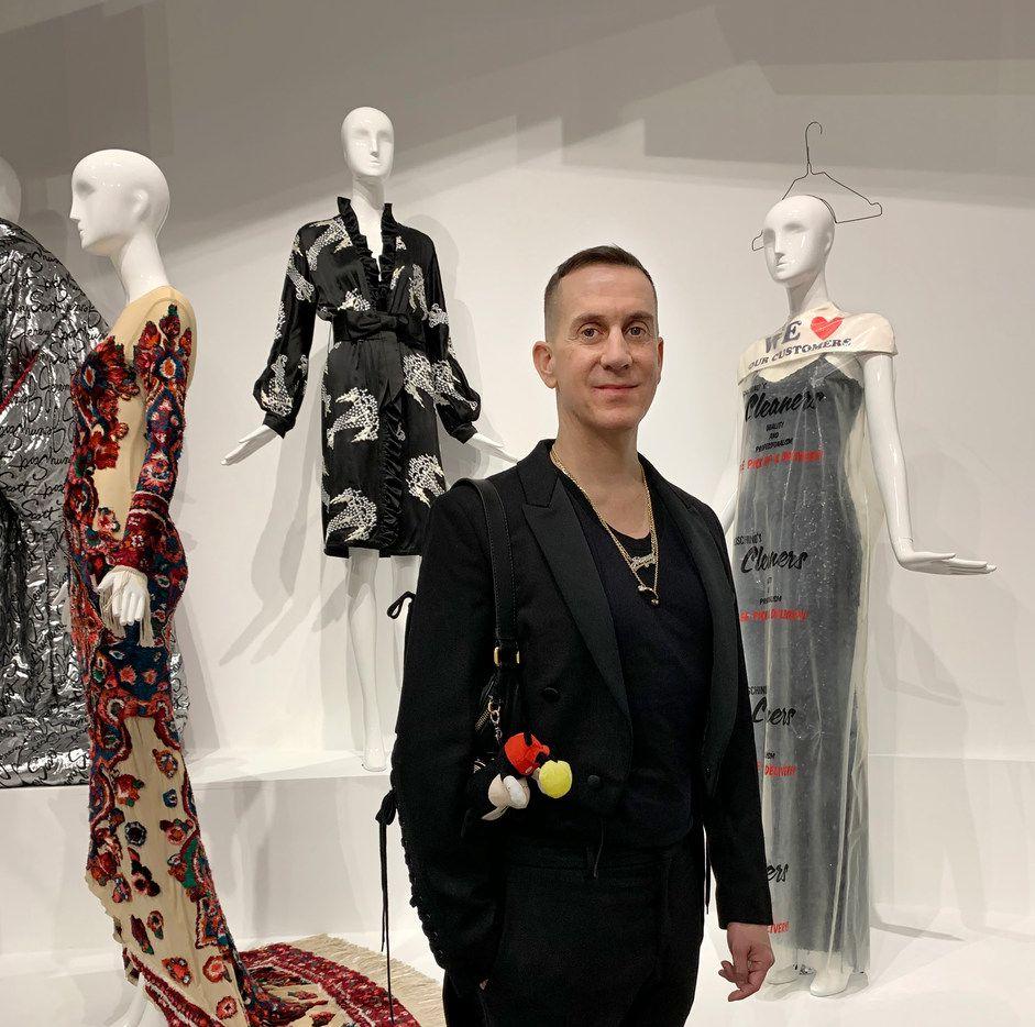 American designer Jeremy Scott at his exhibition VIVA AVANT GARDE: A JEREMY SCOTT RETROSPECTIVE at the Dallas Contemporary opening celebration on January 26, 2019.