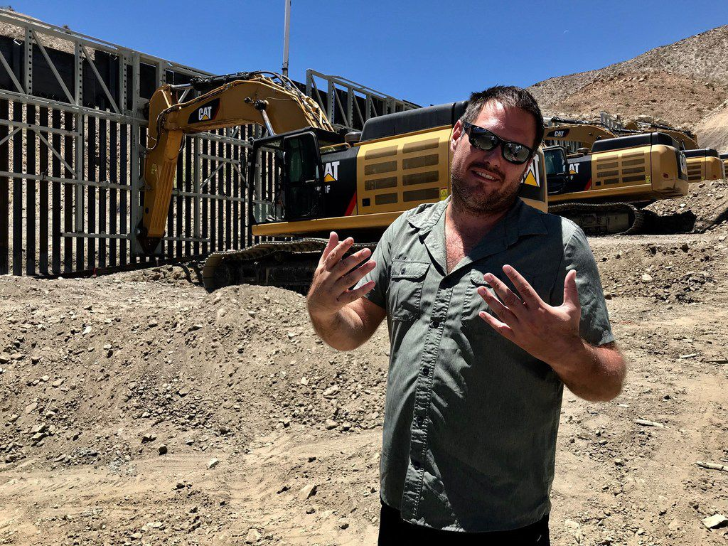 Dustin Stockton is vice president of We Build the Wall, a private group, that's raised more than $22 million to build portions of the wall on private land. The first is here in Sunland Park, New Mexico. The photo was taken May 28, 2019.