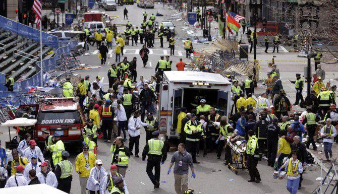 El atentado durante el Maratón de Boston del 15 de abril del 2013 dejó tres muertos y más de 260 heridos. (AP/Charles Krupa)