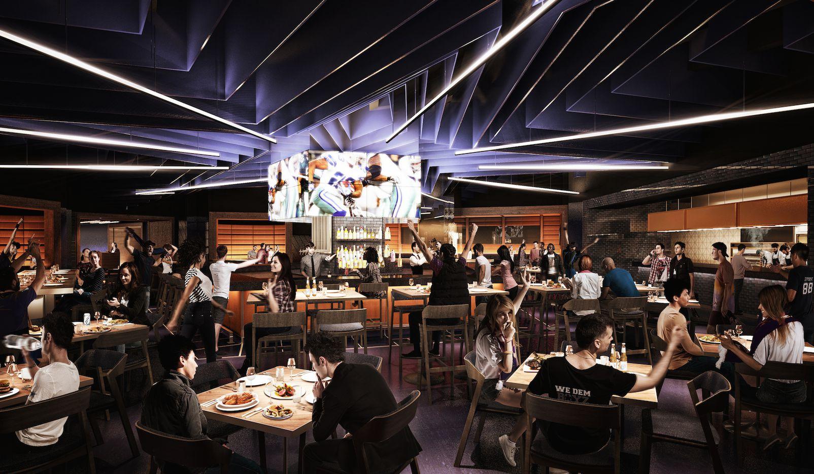"""El nuevo bar """"Stadium Club"""" abrirá los días de partidos de los Cowboys, pero solo habrá acceso con el pago de una membresía."""