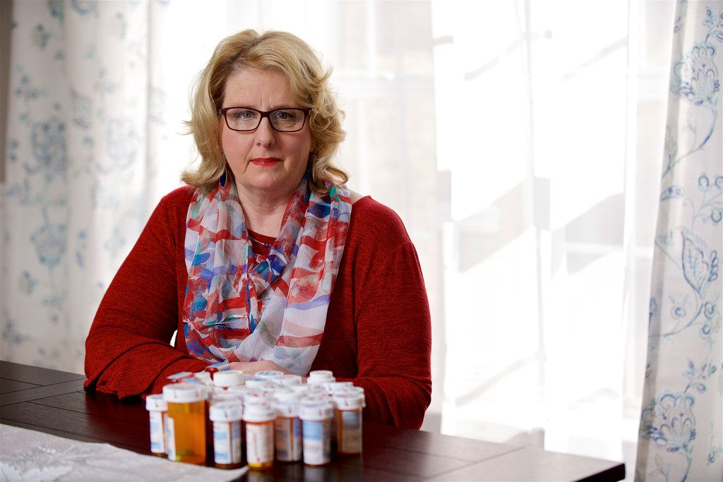 Patti Swearingen of Rowlett has taken more than 30 prescriptions. She is seeking an experimental treatment called phage therapy in Tbilisi, Georgia, for a bladder infection she has had for more than five years.