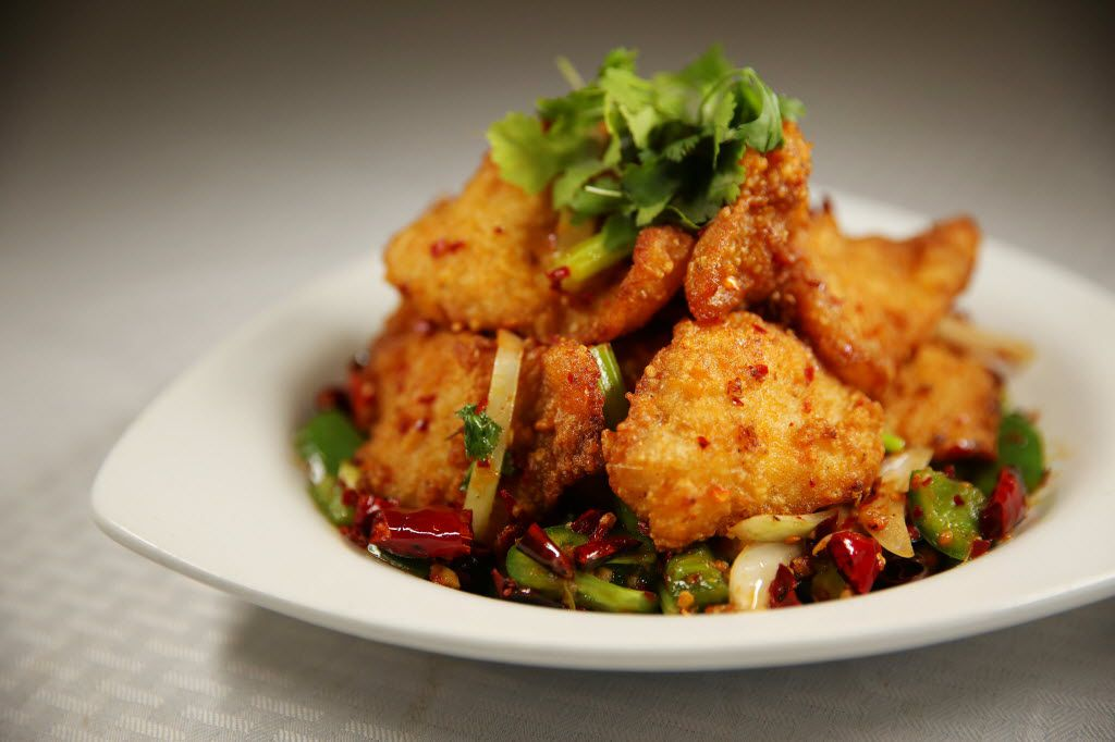 Special spicy fish at  Fish House Family Cuisine