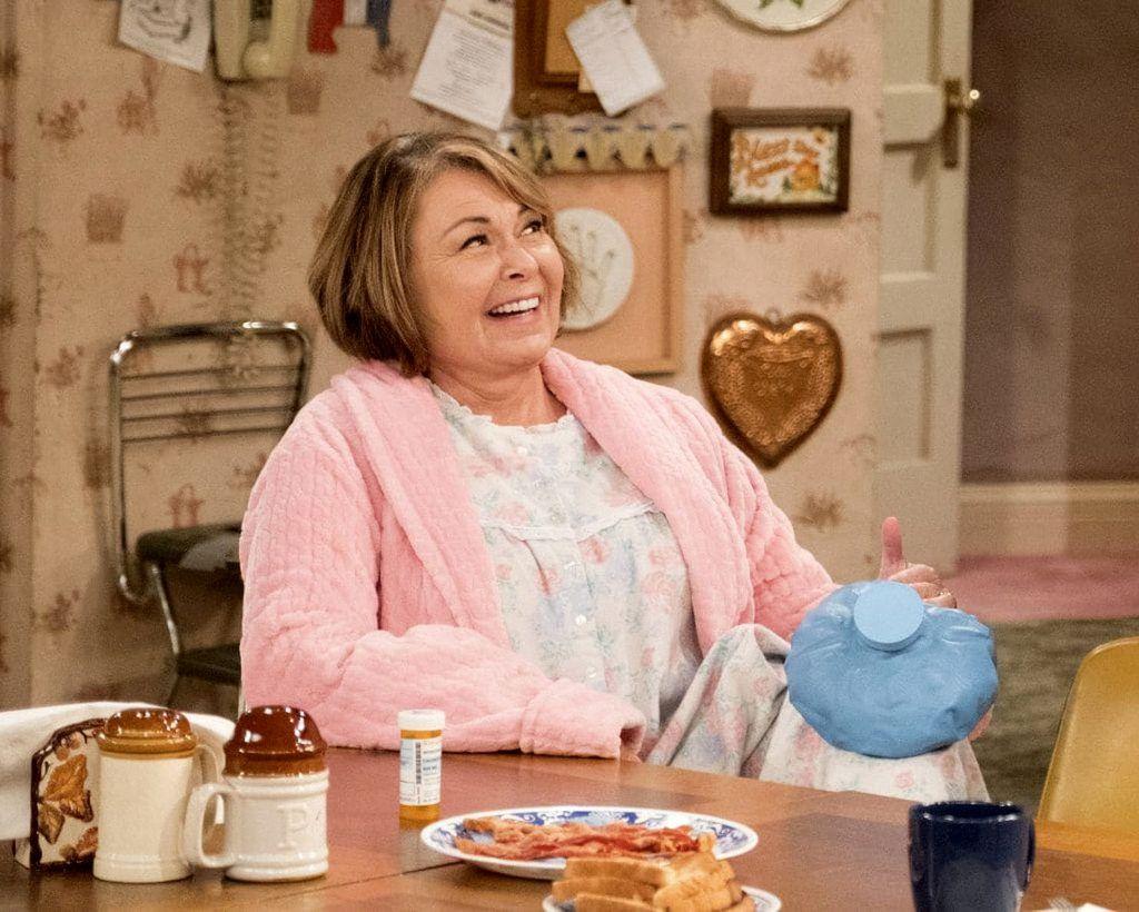 "Roseanne Barr in ""Roseanne."""