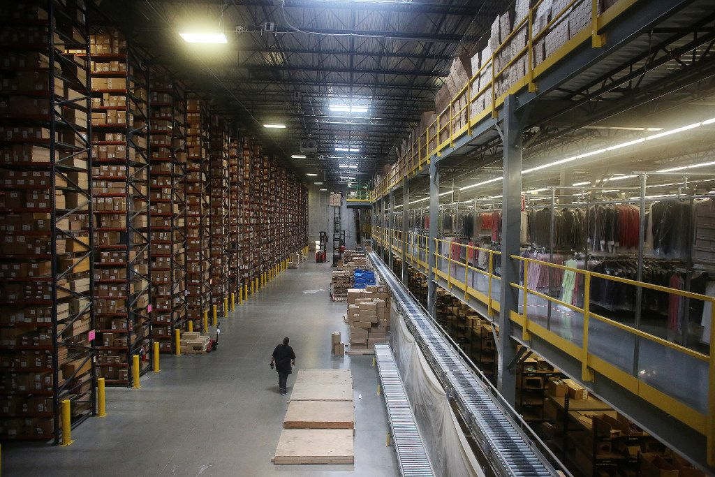 The view inside The Apparel Group Ltd. distribution center in Lewisville, Texas Thursday August 10, 2017. According to The Apparel Group Ltd., one sixth of the men's button down shirts distributed in the United States are processed through this building. Built in 2008, the building is 250,000 square feet and is considered a foreign trade zone. The average order size for direct to consumer purchases is under two units per box, whereas they ship on average eight units per box to wholesaler customers. (Andy Jacobsohn/The Dallas Morning News)