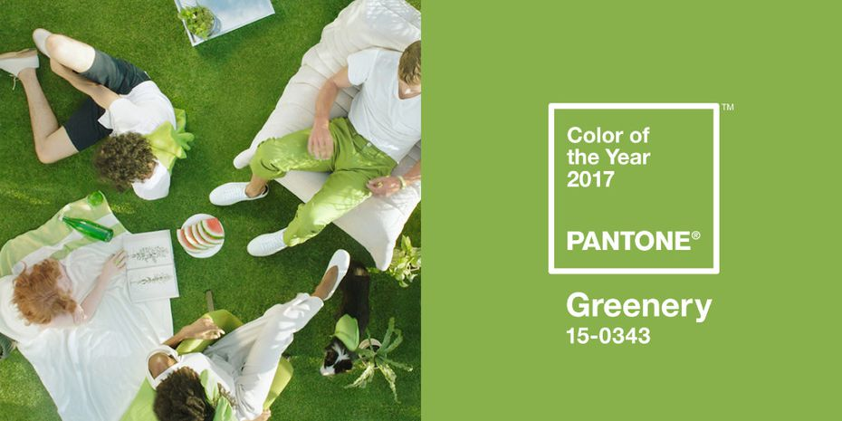 """Greenery is a """"zesty yellow-green shade that evokes the first days of spring,"""" according to the Pantone Color Institute."""