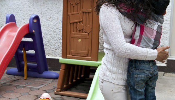 Las internas del penas de Santa Marta Acatitla, en la Ciudad de México, pueden vivir con sus hijos.(AGENCIA REFORMA)