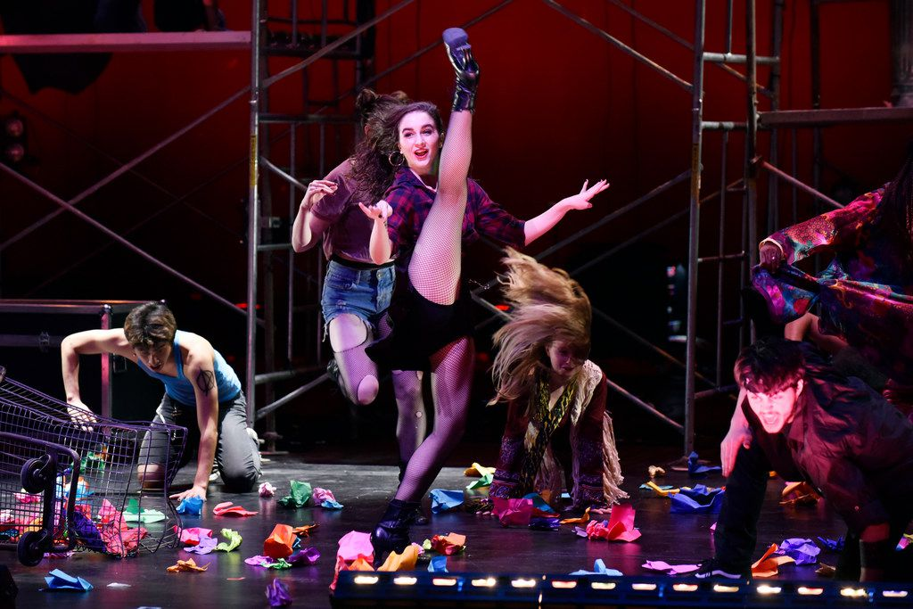 Junior Players' production of Green Day's American Idiot, directed by Valerie Hauss-Smith, at Moody Performance Hall.