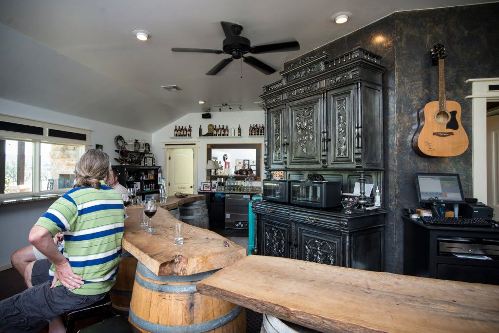 The tasting room at Bending Branch Winery in Comfort, Texas.
