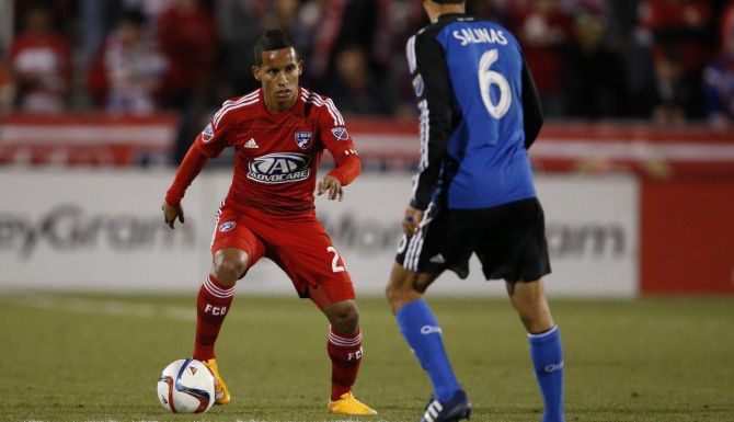 Michael Barrios (21) debutó el sábado pasado en la MLS, en el triunfo de Dallas 1-0 ante San José. (USA TODAY/MATTHEW EMMONS)
