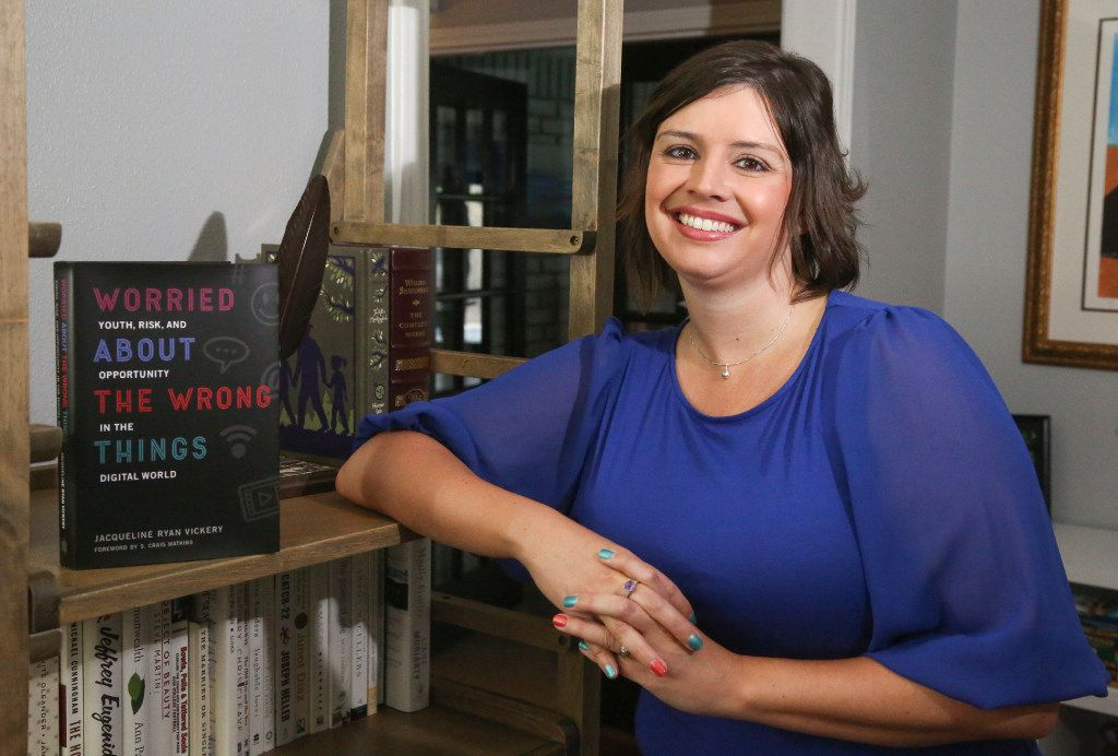 UNT professor and author Jacqueline Vickery , in her Dallas home, is the author of Worried About the Wrong Things.
