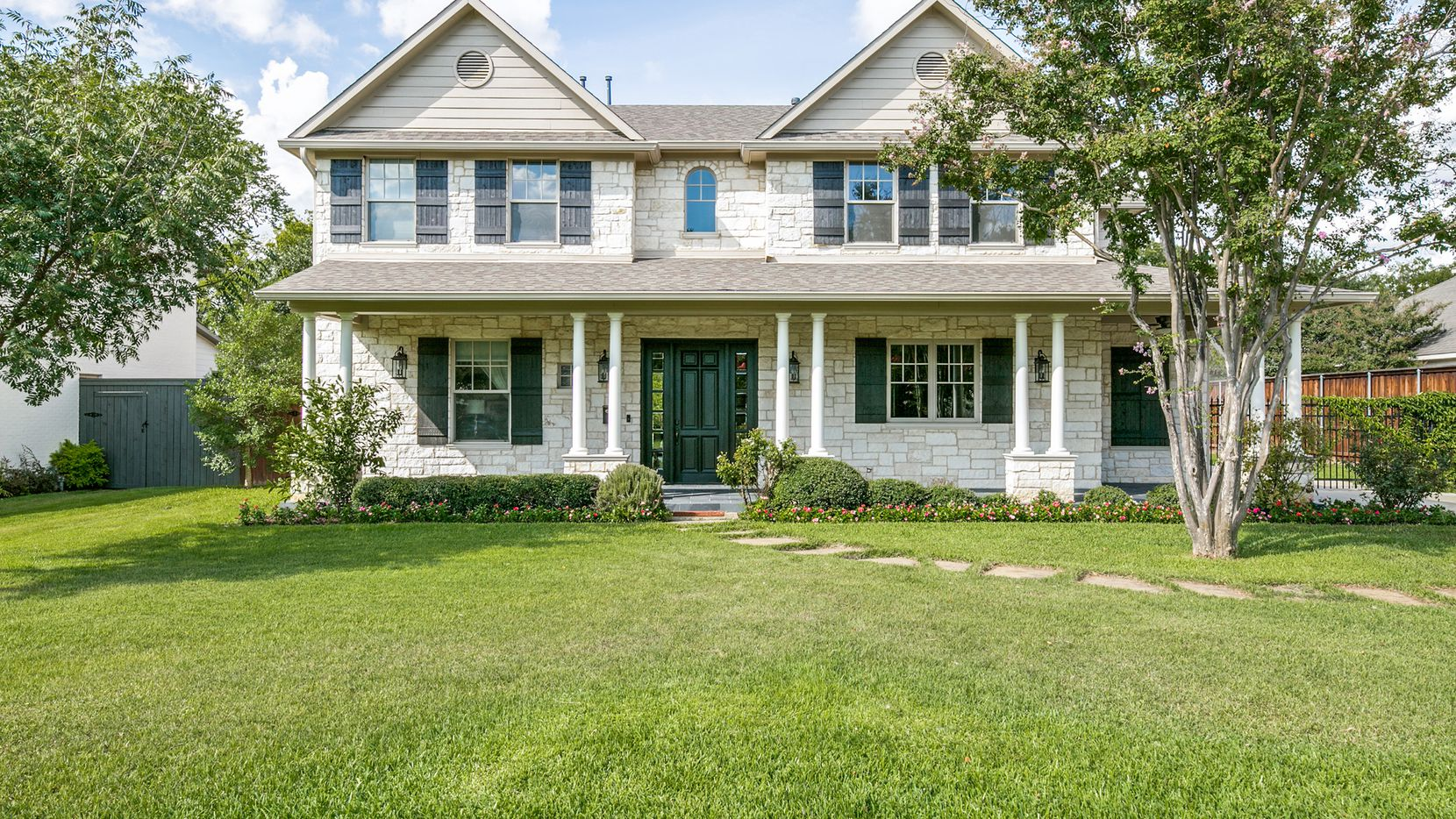The four-bedroom custom-built home at 4351 Middleton Road is situated on a 240-foot-deep lot.
