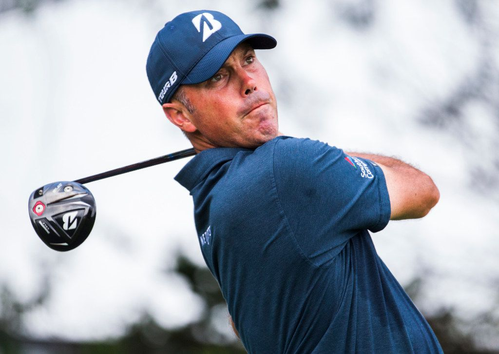 Matt Kuchar tees off at the fourth hole during round 1 of the AT&T Byron Nelson on Thursday, May 18, 2017 at TPC Four Seasons in Irving, Texas. (Ashley Landis/The Dallas Morning News)
