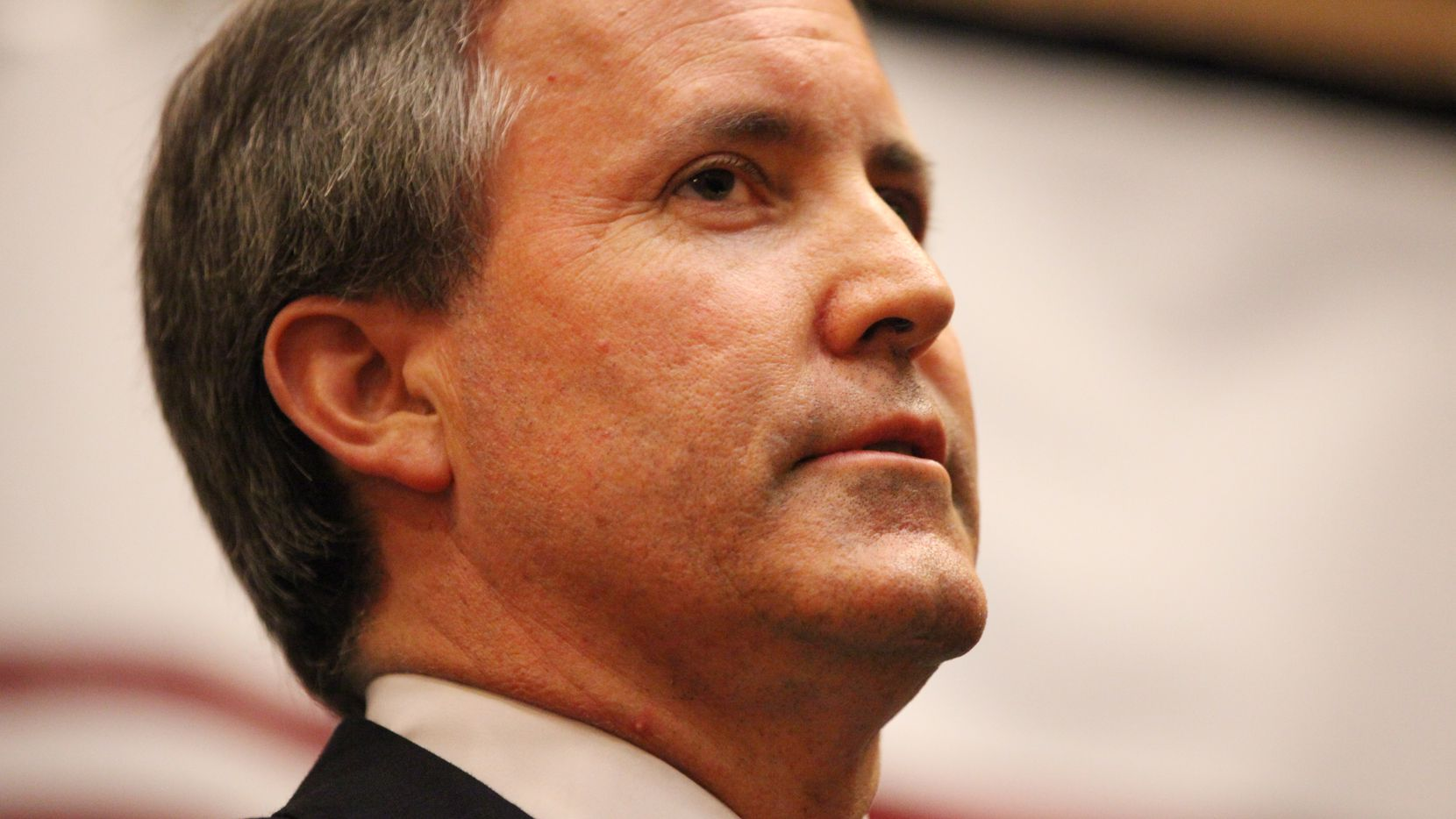 State Senator Ken Paxton announces he won the Republican runoff election for Texas attorney general against Dan Branch at a campaign watch party at the Embassy Suites Hotel and Convention Center in Frisco, Texas on May 27, 2014. (Andy Jacobsohn/The Dallas Morning News)