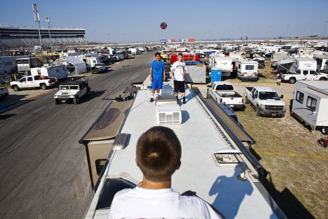 Camping's the real race-weekend thrill for some NASCAR fans