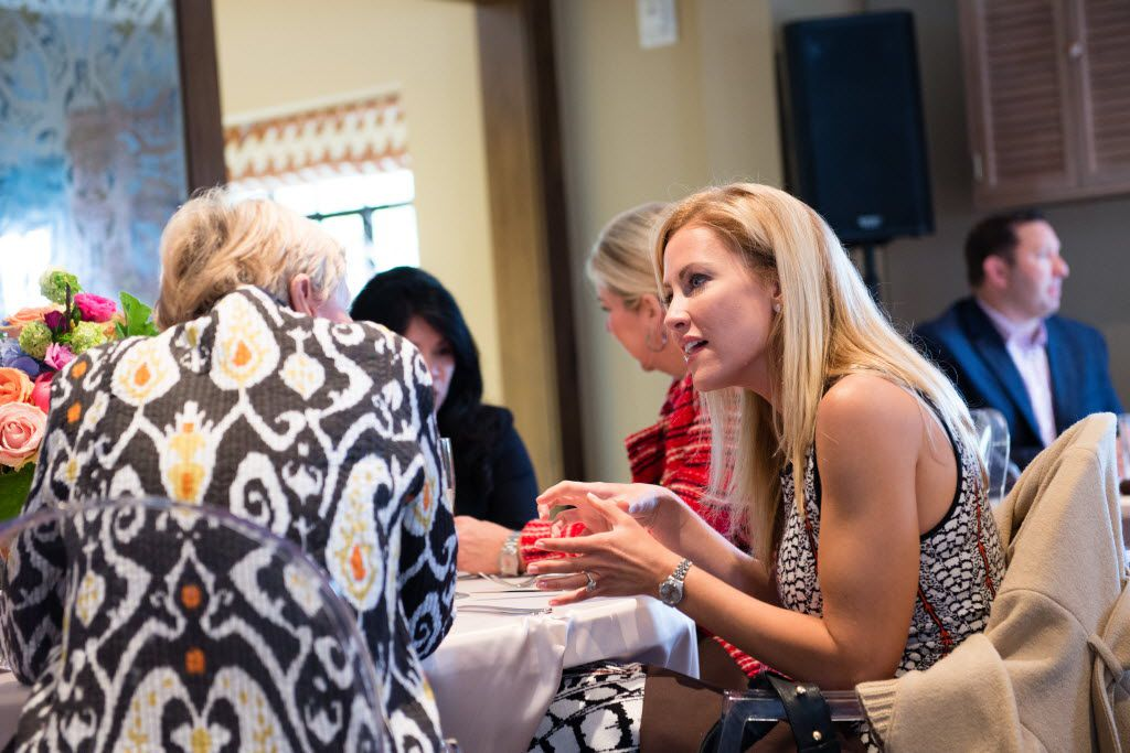Stephanie Hollman at the Giving Back To Those That give luncheon Thursday, May 21 at Bistro 31 in Highland Park Village.