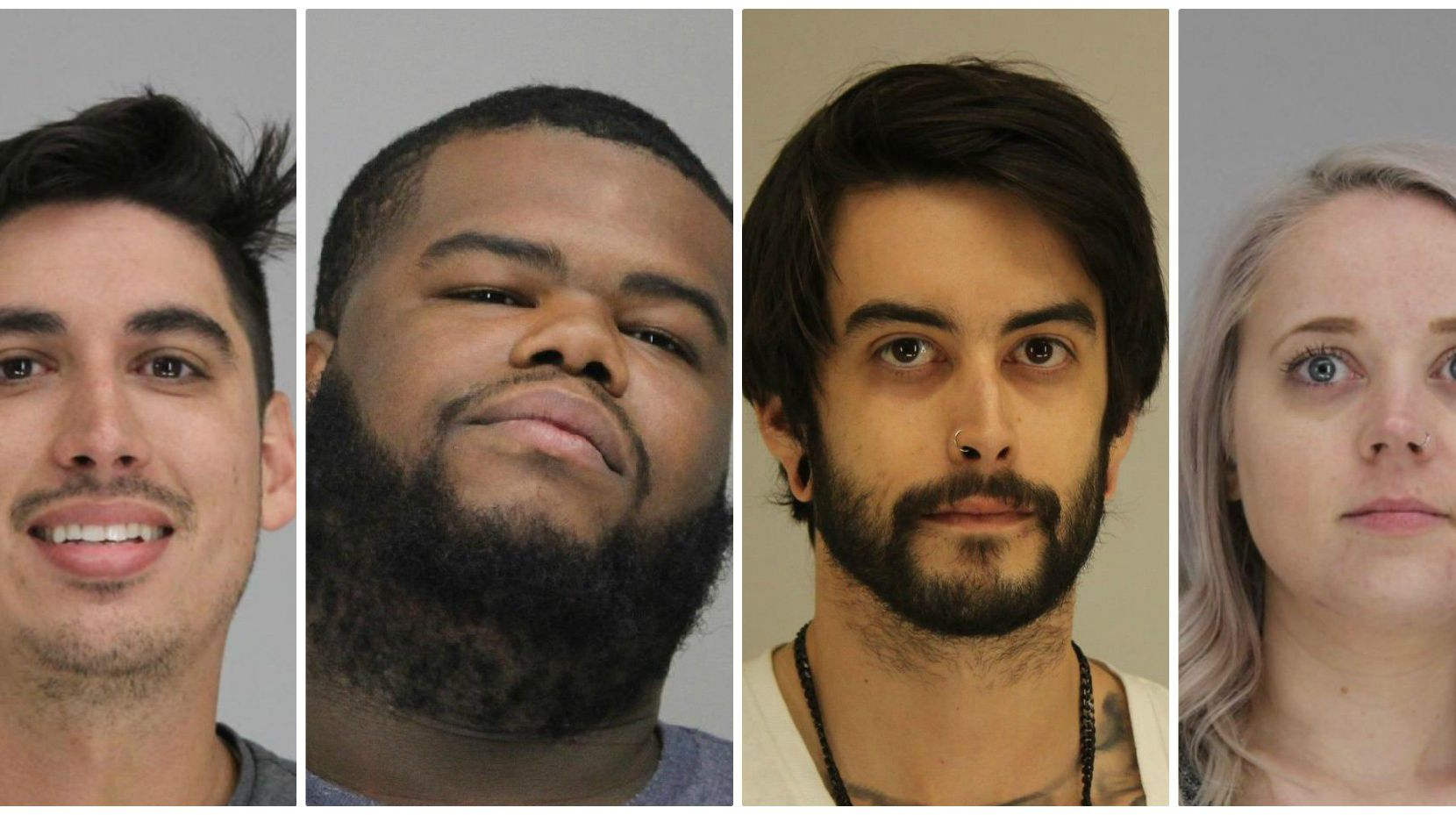 From left: Dallas police arrested Forrest Taylor Spetter, 26; Corie Lamar Campbell, 26; Yaschua Duprey Churn, 28; and Andrea Renee Mitchell, 30.